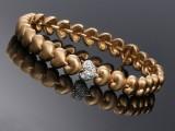 Ole Lynggaard. 'Hjerte' bracelet, 14 kt. gold, with diamonds