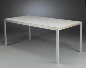 rolf hay spisebord af st l og hvidlamineret krydsfiner 2. Black Bedroom Furniture Sets. Home Design Ideas