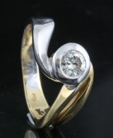 Diamond solitaire ring in 18kt approx. 0.42ct
