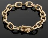 Klassisk anker armlænke af 14 kt. guld