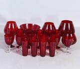 Samling glas, bl.a. Lennart Rosén, Reijmyre (21)