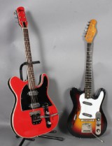 To elektriske guitarer Jolana Iris, samt Rover. (2)