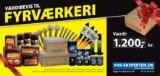 Værdibevis på DKK 1.200 til køb af fyrværkeri hos VVS-Eksperten - Til fordel for Knæk Cancer 2014