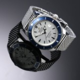 Breitling 'Superocean Heritage'. Men's chronograph in steel with silver dial - cert. 2017