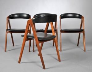 kai kristiansen stol Kai Kristiansen. Fire stole af teaktræ. (4) | Lauritz.com kai kristiansen stol