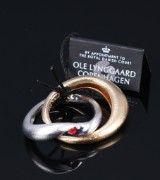 Ole Lynggaard. 'Fidelity' ring, 14 kt. satin-finish white and yellow gold