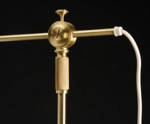 aage petersen for le klint bordlampe teleskoplampe. Black Bedroom Furniture Sets. Home Design Ideas