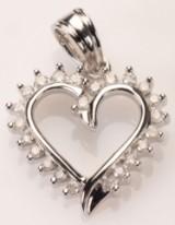 Hjertevedhæng med diamanter - ca. 0,30 ct.