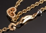Ole Lynggaard. Heart necklace with diamonds, 18 kt. gold