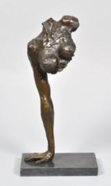 Abstrakt erotisk figur i bronze