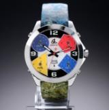 Jacob & Co 'Five Time Zone'. Oversize Herrenuhr aus Stahl mit Perlmutt-Zifferblatt, 2000er Jahre