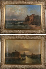 Jean Marie Auguste Jugelet, oils on canvas, views from Le Havre (2)