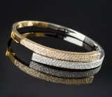 Brilliant-cut diamond bracelet approx. 3.11, gold and white gold