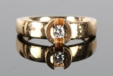 Brillantring, 14 kt guld, 'Diamond Queen' ring, 0.09 ct
