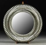Spegel, silverfärgad ram