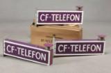 Skilte med lygte 'CF-telefon' (5)