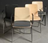 jehs + laub, vier Armlehnenstühle 'A-Chairs' für Brunner (4)