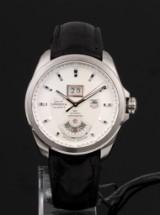 Tag Heuer 'Grand Carrera GMT'. Herreur i stål med original rem og spænde