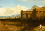 Georges Edwards Hering, antique temple in hillscape