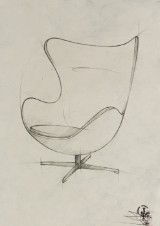 Dimitri Jelezky, Egg Chair, 2017. Bleistift