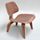 Charles Eames. Lounge chair, 'LCW Plywood Chair' in walnut