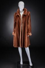 Mink swing coat, Scanglow, size 40, Brdr. Alex Petersen