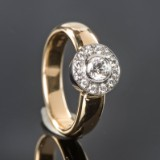Brilliant-cut diamond ring, gold, approx. 0.52 ct. - hallmarked