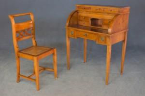 sekret r damensekret r mit stuhl kirschfarben lasiert 2. Black Bedroom Furniture Sets. Home Design Ideas