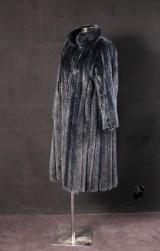 Nerzmantel, dunkelblau Gr.40/42
