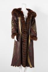 Grünstein Couture, Finnland, Wendemantel, Mantel, Leder und Pelz, wohl Kaninchen