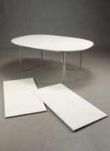 Piet Hein & Bruno Mathsson. Super Ellipse table with two extension leaves (3)