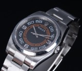 Rolex 'Oyster Pepetual'. Men's watch, steel with black/orange dial, c. 2007