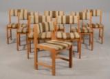 Farstrup Møbler - otte stole med uld / bøg (8)