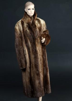 c1a27bef Herre pelsfrakke af brun bæver, antagelig str. 54 Denne vare er sat til  omsalg
