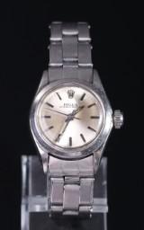 Rolex Oyster Perpetual damearmbåndsur af stål, ref. 6618