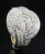 Diamond ring in gold approx. 0.73ct.