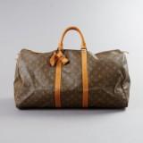 Louis Vuitton weekendväska Keepall 50 med monogram