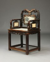 Kinesisk armstol, hardwood