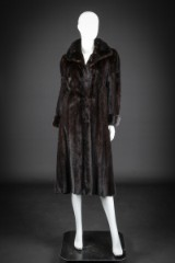 Mink coat, scanblack, size 36-38. Labelled Birger Christensen