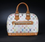 Louis Vuitton. Handtasche 'Alma PM Multicolor Monogram', weiß