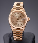Vintage Rolex Oyster Perpetual Datejust ladies' watch, 18 kt. gold