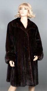 Saga Mink Royal. Dark mahogany mink jacket, size approx. 42-44