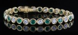 Diamond and emerald bracelet in 18kt approx. 2.80ct