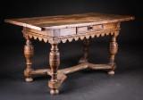 Barok bord af egetræ 1700-tallet
