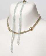 Ole Lynggaard - Lås samt Aquamrinkæde og kæde af sterling sølv og 14 kt. guld (3)