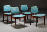 Dansk møbelproducent. Spisestole af palisander (4)