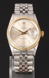 Rolex Oyster Perpetual Datejust herreur, ref. 16013, 18 karat guld og stål