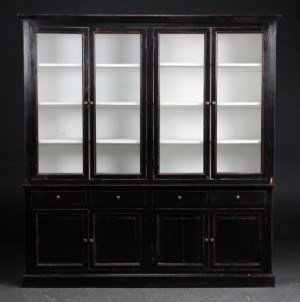 ware 3161182 gro e vitrine schrank vier fl gelig. Black Bedroom Furniture Sets. Home Design Ideas