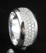 18kt diamond ring approx. 0.77ct