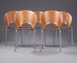 Nanna Ditzel. A set of five Trinidad chairs, model 3298 (5)